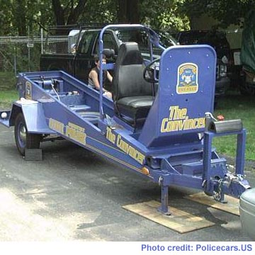 The Convincer safety belt demonstration machine